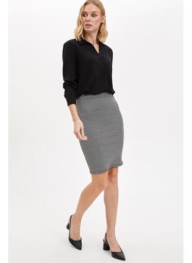 DeFacto Uzun Kollu Bluz Siyah